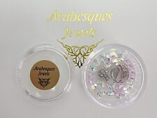 """""""CROSS & ANGEL WINGS"""" ARABESQUES CHARM POT FOR MEMORY/FLOATING PENDANT/NECKLACE"""