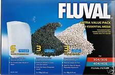 Fluval 304 305 306 404 405 406 Value Media Pack Carbon Polishing Pad Zeolite