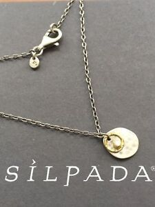 Brass Shell Pendants TWO Sterling Silver Finish