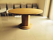 1500mm / 150cm SOLID OAK ROUND PEDESTAL LEG TABLE - HAND CRAFTED - MADE TO ORDER