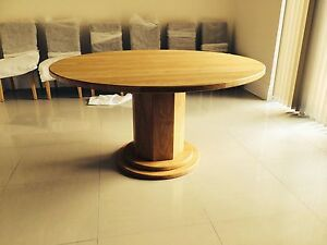 1400mm / 140cm SOLID OAK ROUND PEDESTAL LEG TABLE - HAND CRAFTED - MADE TO ORDER