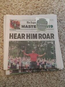 TIGER WOODS 2019 MASTERS Tiger Slam Newspaper Augusta Chronicle Original **READ