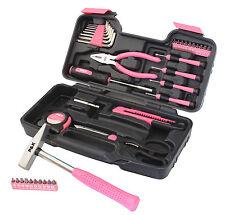 39 Teilig Werkzeugset Pink Lady Werkzeugkasten Werkzeugkoffer Werkzeugkiste
