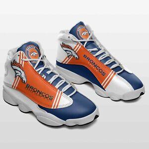 Denver Broncos NFL  Air JD13 Sneakers Shoes, Denver Broncos sports shoes