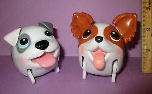 Chubby Puppies Puppy Spin Master Gray Bulldog Brown Papillon Lot Dog Pirate