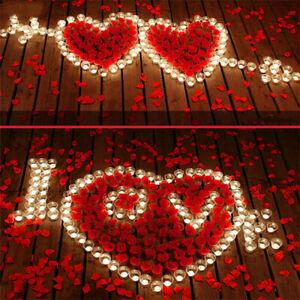 1000pcs 5*5cm Artificial Flowers Simulation Rose Petals Decora Valentine Wedding