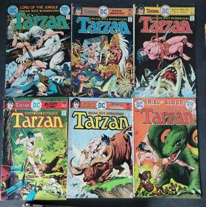EDGAR RICE BURROUGHS TARZAN LOT OF 19 VINTAGE ISSUES (1974) DC COMICS KUBERT!+