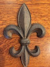 BIG Fleur De Lis French New Orleans Saints Louisiana Cajun Style Cast Iron BIG