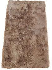 éco Peau D'agneau D'islande Tapis 115 x 190 cm de fourrure Taupe en 4