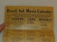 1950 Brazil IN Movie news mailer Calendar Citizens Theater Roy Rogers Trigger