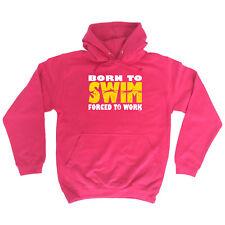 Funny Novelty Hoodie Hoody hooded Top - Born To Swim