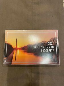 2021 US PROOF SET 7 PC. IN BOX W/ COA!!..STARTS@ 2.99
