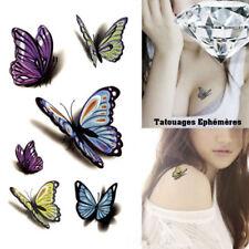 Tatouage Temporaire Ephémère Papillons