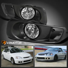 For 1999-2000 Honda Civic Si Clear Driving Fog Lights+Switch