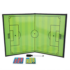 Magnetic Soccer Coach Board Football Tactic Strategy Training Coaching Leather