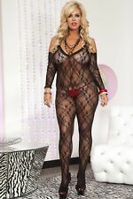 Plus Size Lingerie XL-2X-3X Sexy Lenceria Bodystocking Stripper dress