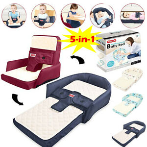 Portable Travel Baby Cot Bed Folding Booster Seat Bassinet Toddler High Chair UK