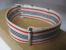 Nylon quality designed fabric vintage style buckle thin fits any 20mm watch