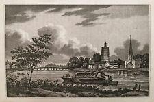 1820 Antique Aquatint Print; Battersea, London