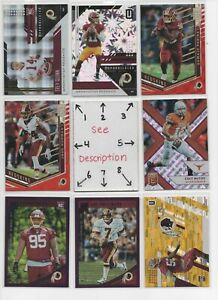 Washington Redskins * Serial #'d Rookies Jersey Auto * EVERY CARD IS A GOOD CARD