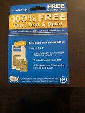 FreedomPop 3 in 1 Sim Kit  Voice/Data Bundle Prepaid Carrier Locked - 200 MB