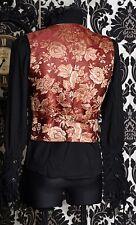 Gothic Victorian Vintage Steampunk Brocade Waistcoat Top Vest