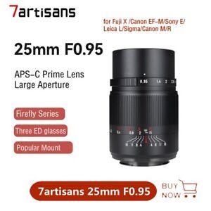 7artisans 25mm F0.95 Large Aperture Auto Lens for Canon Sony Nikon Fujifilm M4/3