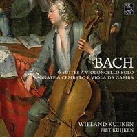 J.S. Bach / W. Kuijk - 6 Cello Suites - Gamba Sonatas [New CD]
