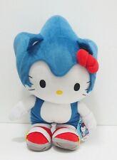 "Hello Kitty X Sonic The Hedgehog Sanrio Sega Super Jumbo 15"" Plush 2012 Japan"