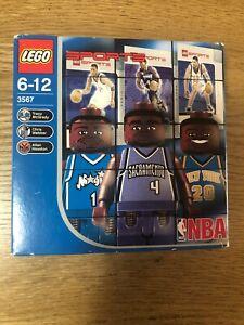 LEGO 3567 NBA Collectors Sports Chris Webber Tracy McGrady Houston Minifigs NEW