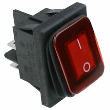 Red Rectangle Illuminated On-off Waterproof Rocker Switch 20a DPST Ip67