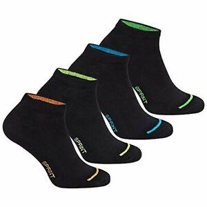Sneakersocken (8 Paar) Herren schwarz neon Sport Füßlinge Gr.39-42-/ 43-46