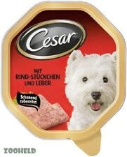 24x150g Hundefutter Cesar mit Rind-Stueckchen und Leber