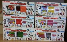 Vintage Lionel Disney Mickey Mouse Hi-Cube Train Set Cinderella Goofy + More IOB