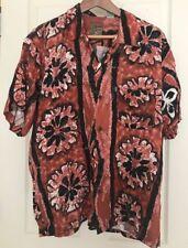 Hawaiian Print Aloha Wear Tiki Lounge Shirt Pineapple Connection Rockabilly Med