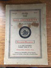 Ohio University 1916 School Bulletin Athens, Ohio