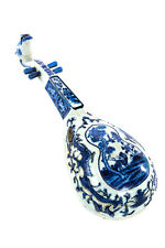 Chinese 19th century Blue & White porcelain Wall hanging Musical Instrument