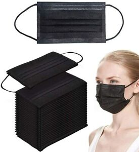 Black / Pink / BLUE  Disposable Face Mouth Mask 3 Layer Protective Audit / Kid