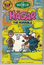 """The World of Hagar The Horrible #11 """"Never Say Die"""" Budget Books 1986"""