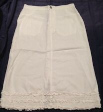 White Knee Length HARRY POTTER Tencel Skirt Ruffle Hem Detail New Sz 12
