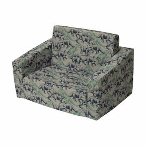Kids Sofa Day Bed Portable Flip Out Couch Toddler Flipout dinosaur Dino Marle K2