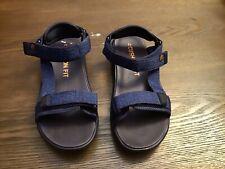 Champion Kids Cushion Fit Adjust Sandals Size 5 Blue & Black Color.