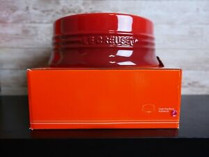 Le Creuset Large Dog Pet Bowl RED CHERRY with Japan Style *NEW IN BOX*