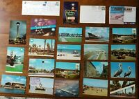 Twenty-one 1972 Texas Postcards, One TX postmarked card/One AZ postmarked card