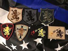 USN SEAL Team 6 DEVGRU GOLD SQUADRON Crusader Cross LION Embroider Hook Patch x7