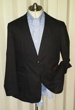New NORDSTROM Kroon washed tonal plaid black JACKET BLAZER SPORTCOAT 40 M Medium