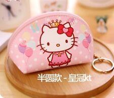 Hello Kitty PU Leather Pink Small Coins Purse Key Bag KK872