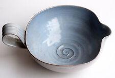 Edwin and Mary Scheier, Gray and Blue Art Pottery Gravy Boat, circa 1950s