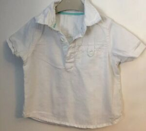 Boys Age 12-18 Months - M&S Short Sleeved Shirt - Reduced Half Price