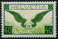 SWITZERLAND 1929 AIR MAIL 40c 'BLUE & APPLE GREEN' SG322 MH Cv£80 [A7575]